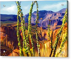 Arizona Superstition Mountains Acrylic Print by Bob Salo