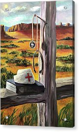 Acrylic Print featuring the painting Arizona The Nurse And Hope by Randol Burns