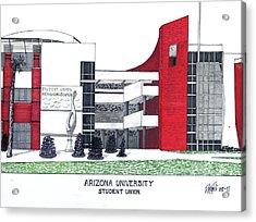 Arizona University Acrylic Print by Frederic Kohli