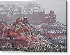 Arizona Winter Acrylic Print by Racheal Christian