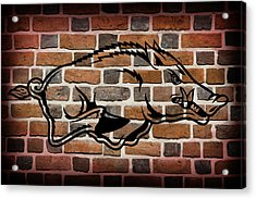 Arkansas Razorbacks Brick Wall Acrylic Print