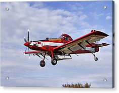 Arkansas Razorbacks Crop Duster Acrylic Print