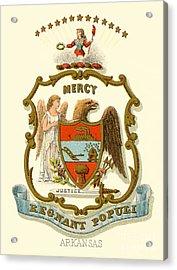 Arkansas State Coat Of Arms  Acrylic Print