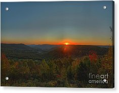 Arkansas Sunrise Acrylic Print by Kevin Kuchler