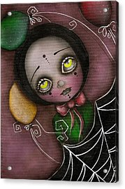 Arlequin Clown Girl Acrylic Print by  Abril Andrade Griffith