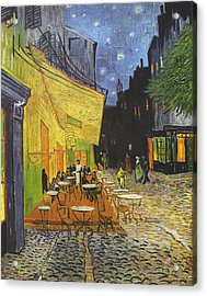 Arles Cafe Terrace At Night Acrylic Print