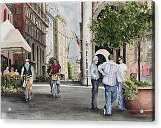 Arles Street Acrylic Print