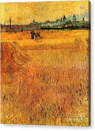 Arles View From The Wheat Fields Acrylic Print by Vincent Van Gogh