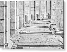 Acrylic Print featuring the photograph Arlington Amphitheater Arches And Columns II by Susan Candelario