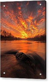 Acrylic Print featuring the photograph Fire On Sky by Davorin Mance