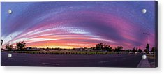 Acrylic Print featuring the photograph Armijo Sunset by Geoffrey Lewis