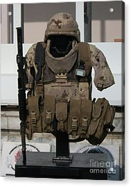 Army Gear Acrylic Print by Michael Waters