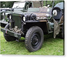 Army Jeep U.s.a. Acrylic Print by Dawn Hay