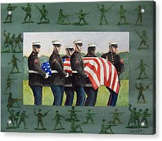 Army Men Acrylic Print by Haldy Gifford