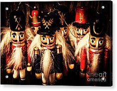 Army Of Wooden Soldiers Acrylic Print