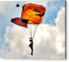 Army Paratrooper 2 Acrylic Print