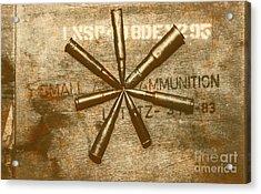 Army Star Bullets Acrylic Print by Jorgo Photography - Wall Art Gallery