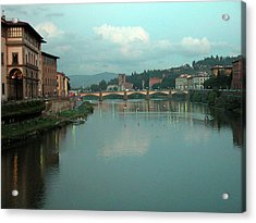 Acrylic Print featuring the photograph Arno River, Florence, Italy by Mark Czerniec