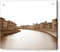Acrylic Print featuring the photograph Arno River In Pisa by Laurel Best