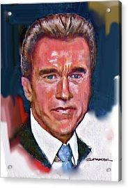 Arnold Schwarzenegger Acrylic Print by Craig A Christiansen