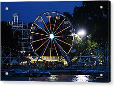 Arnolds Park At Night Acrylic Print
