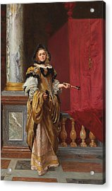 Arriving At The Ball Acrylic Print by Gustave Jacquet