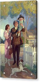 Arriving Home Acrylic Print by Newell Convers Wyeth