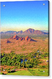 Arriving In Phoenix Digital Watercolor Acrylic Print