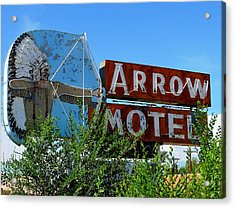 Arrow Motel Acrylic Print