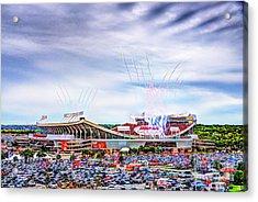 Arrowhead Touchdown Celebration Acrylic Print by Jean Hutchison