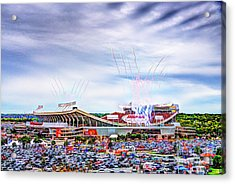 Arrowhead Touchdown Celebration Acrylic Print