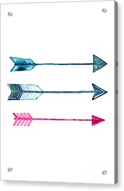 Arrows Silhouette Fine Art Print Acrylic Print by Joanna Szmerdt