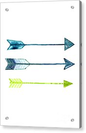Arrows Watercolor Art Print Acrylic Print