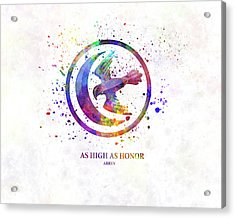Arryn In Watercolor Art Acrylic Print
