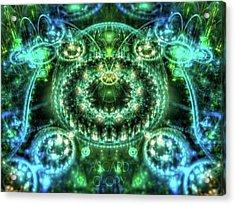 #art #abstract #digitalart #dreamy Acrylic Print by Michal Dunaj