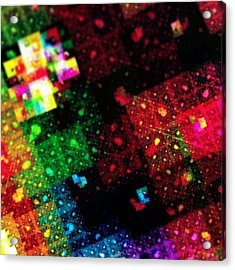 #art #abstract #digitalart #fractals Acrylic Print by Michal Dunaj
