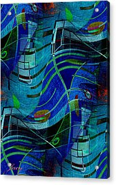 Art Abstract With Culture Acrylic Print by Sheila Mcdonald