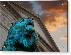 Art And Lions Acrylic Print