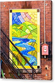 Art And The Fire Escape Acrylic Print by Tom Singleton