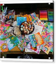 #art #artsupplies And #fresheggs..ready Acrylic Print