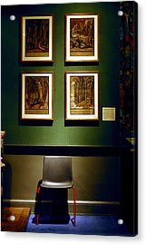Art Chair Acrylic Print by Jez C Self
