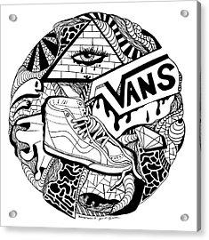Art Circle Vans Acrylic Print by Kenal Louis