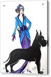 Art Deco 1920's Myra Acrylic Print