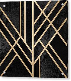 Art Deco Black Acrylic Print by Elisabeth Fredriksson