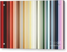 Art Deco Color Palette Of 1940 Acrylic Print by Radu Bercan