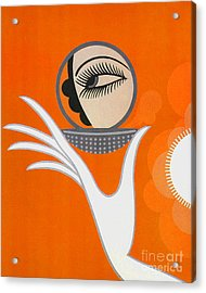 Art Deco Fashion Illustration Acrylic Print by Tina Lavoie