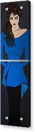 Art Deco  Girl Waiting Acrylic Print