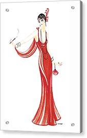 Art Deco Lady - Daphne Acrylic Print by Di Kaye