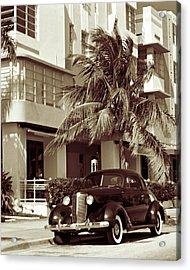 Art Deco Ocean Boulevard Miami Beach Florida Acrylic Print by George Oze
