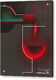 Art Deco Red Wine Acrylic Print by Mindy Sommers